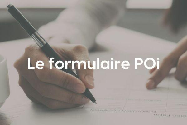 Le formulaire P0i